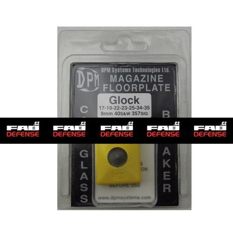 MFPY-GL/1 - Polymerová patka na zásobník s rozbíječem oken pro Glock 17/19/22/23/25/34/35 žlutá