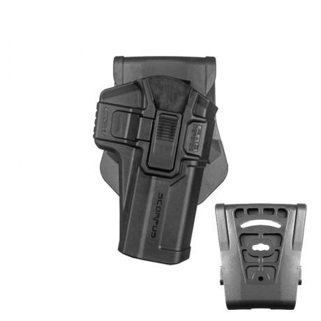 SC-G21 R - Polymerové pouzdro Scorpus pro Glock .45 (CZ P-10 C) s pojistkou (pádlo i opasková redukce) pro praváka (PB35) černé
