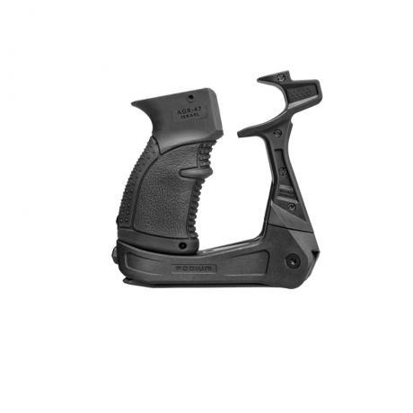 AK-PODIUM - Platforma s dvojnožkou pro zbraně typu AK (včetně pistolové rukojeti) černá