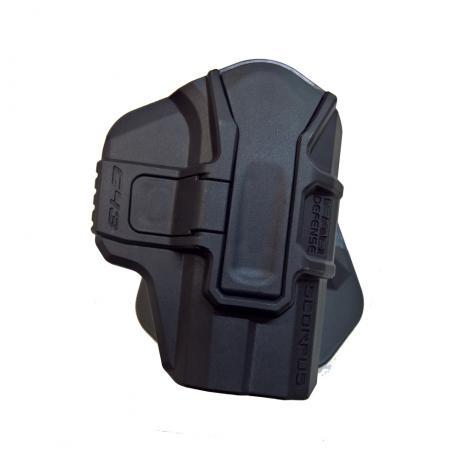 SC M1 G43 S RH - Scorpus pouzdro pro Glock 43 bez pojistky pro praváka (PB35) černé