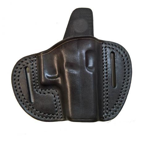 LB-G43OUT - Vnější kožené opaskové pouzdro pro Glock 43 tmavé