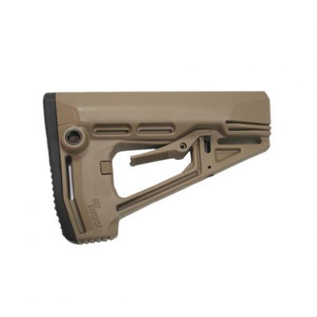 IMI-Z0409 - Taktická pažba pro M16/AR15/M4 s gumovou botkou písková