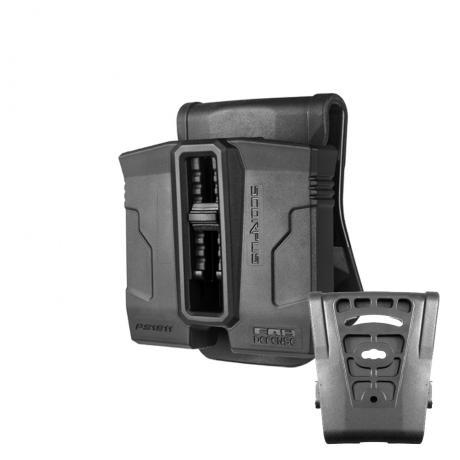 SC-PG9 - Polymerové pouzdro na 2 zásobníky (Glock 9mm) (pádlo i opasková redukce) (PB35) černé