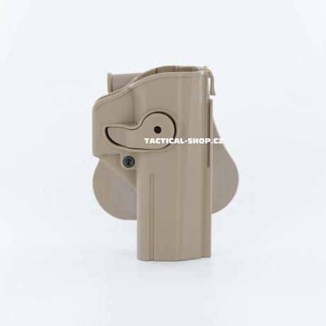 IMI-Z1450 - IMI Defense pouzdro s pojistkou pro CZ Shadow 2, CZ P-09 pískové