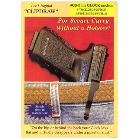 Clip Draw GS-B - Clip Draw GS-B Clip pro Glock 17, 19, 22, 23, 24, 25, 26, 27, 28, 30S, 31 - 40