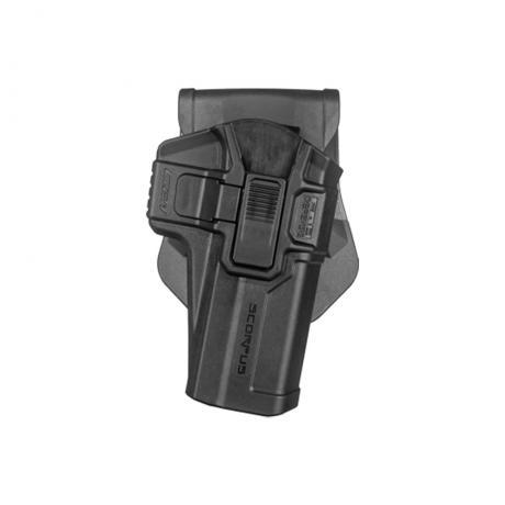 SC-G21 M24 R - Polymerové pouzdro Scorpus pro Glock .45 (CZ P-10 C) s pojistkou (pádlo) pro praváka (PB35) černé