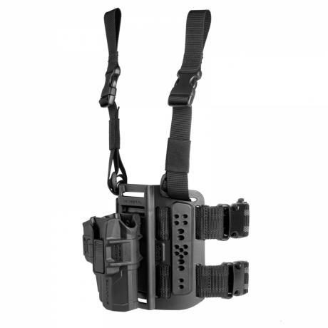 MTR-G9 R - Stehenní platforma Scorpus s pouzdro Glock 19/17/26 s pojistkou pro praváka - černé