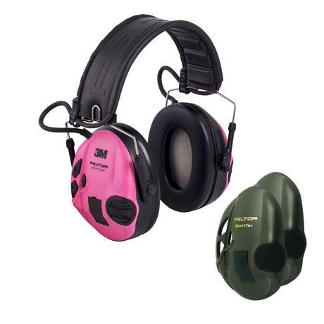 MT16H210F-478-RE - Elektronická sluchátka Peltor SportTac Růžová/Zelená