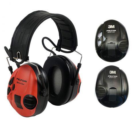 XH001650056 - Elektronická sluchátka Peltor SportTac červená - černá