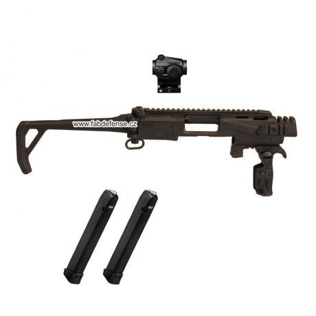 KPOS Scout R-Pack - Konverze na pistole Glock 17, 19 (3-5 GEN, 45, 19X s kolimátorem a 2 zásobníky - černá