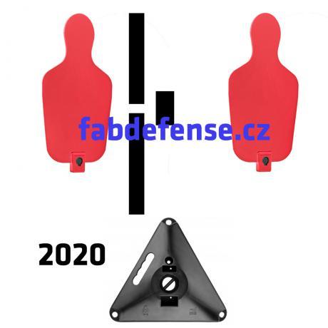 RTS 2 2020 - RTS Targets - Pevný terčový set verze 2020 - červená