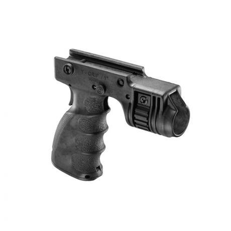 T-GRIP-R - Přední rukojeť s držákem na svítilnu se zadním spínačem