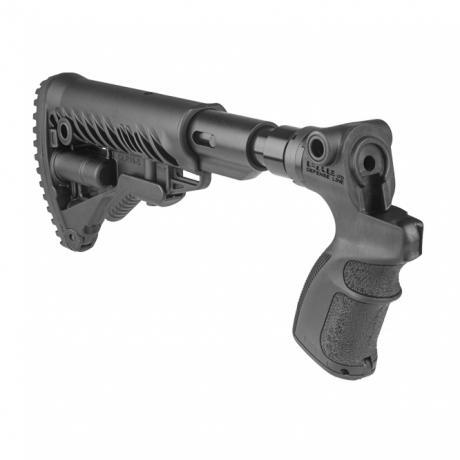 AGM-500 FK SB - Teleskopická pevná pažba s absorberem a pistolovou rukojetí pro Mossberg 500 černá
