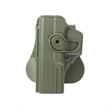 IMI-Z1010LH - Polymerové pouzdro IMI Defense pro Glock 17/22/31 pro leváka s pádlem - zelené