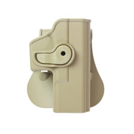 IMI-Z1020 - Polymerové pouzdro IMI Defense pro Glock 19/23/32 s pádlem - pískové