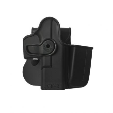 IMI-Z1023 - GK3 polymerové pouzdro IMI Defense pro Glock s integrovaným zásobníkovým pouzdrem - černé
