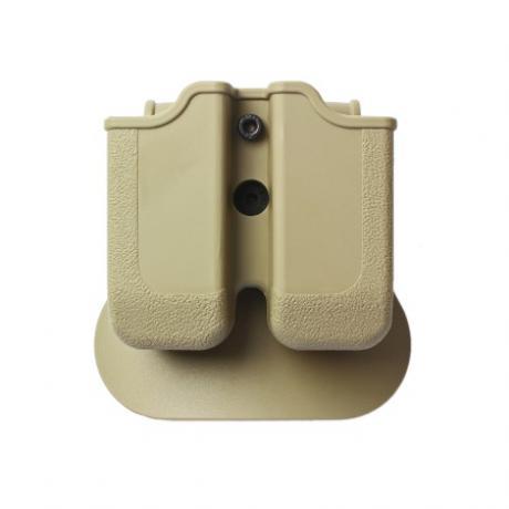 IMI-Z2000 - MP00  - polymerové pouzdro IMI Defense na 2 zásobníky s pádlem (Glock 17, 19atp), Beretta PX4 Storm, H&K P30, VP9 - pískové