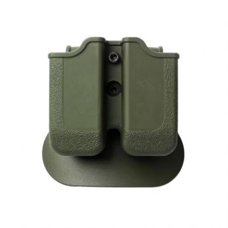 IMI-Z2000 - MP00  - polymerové pouzdro IMI Defense na 2 zásobníky s pádlem (Glock 17, 19atp), Beretta PX4 Storm, H&K P30, VP9 - zelené