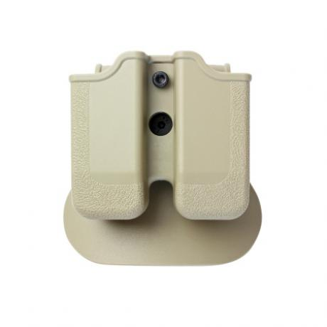 IMI-Z2040 - MP04 - polymerové pouzdro IMI Defense na 2 zásobníky (Beretta PX4, HK P30, Ruger, Steyr, SW, Taurus) - pískové